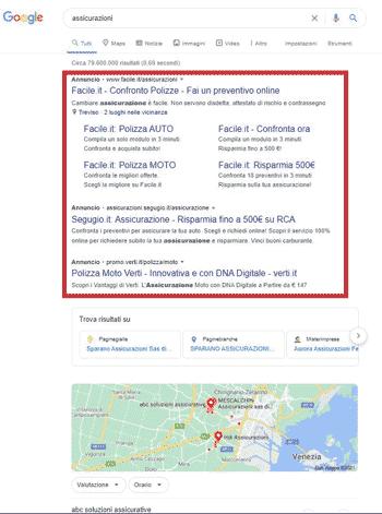 esempio google ads
